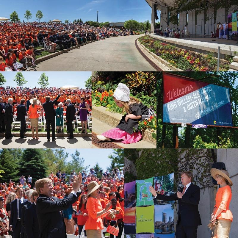 Welkom! Dutch king, queen visit Grand Rapids